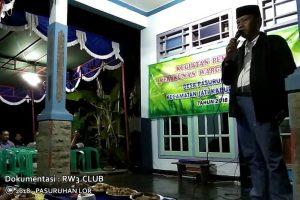 Sambutan Kepala Desa pada Kegiatan Pembinaan Kerukunan Warga Masyarakat Desa Pasuruhan Lor Kudus