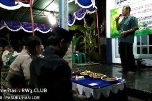 Sambutan Ketua RW-3 pada Kegiatan Pembinaan Kerukunan Warga Masyarakat Desa Pasuruhan Lor Kudus